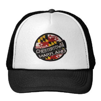 Chestertown Maryland flag grunge trucker hat