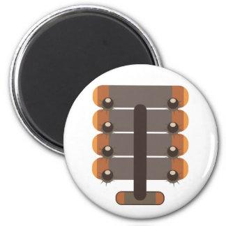 Chestnut 6 Cm Round Magnet