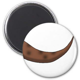 Chestnut Brown Dinosaur Tail 6 Cm Round Magnet