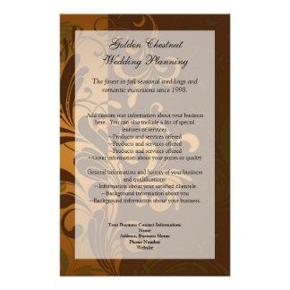 Chestnut Brown Gold Green Program Menu or Flyer