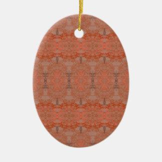 chestnut ceramic oval decoration