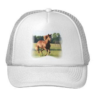 Chestnut Galloping Horse Baseball Hat