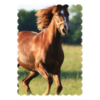 Chestnut Galloping Horse Personalized Invite