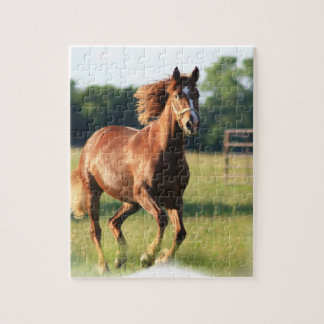 Chestnut Galloping Horse Puzzle