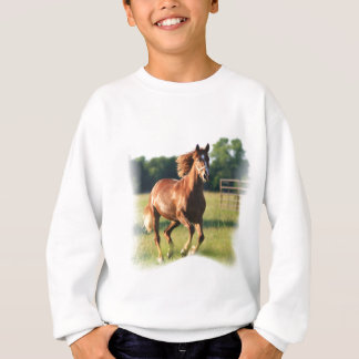 Chestnut Galloping Horse Sweatshirt