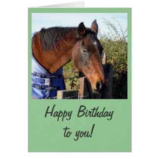 Chestnut Horse 'Happy Birthday' Card