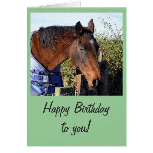 Chestnut Horse 'Happy Birthday' Greeting Cards