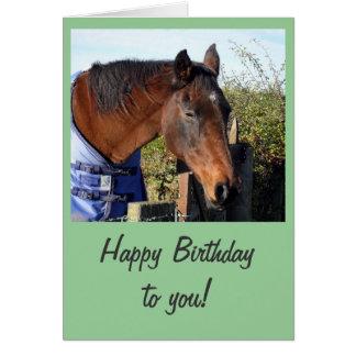 Chestnut Horse 'Happy Birthday' Greeting Card