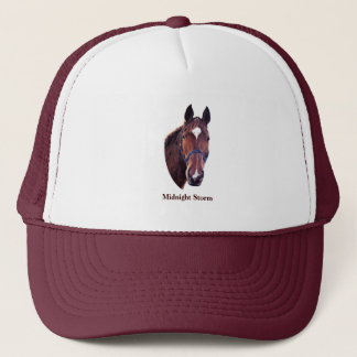 Chestnut Horse Portrait Trucker Hat