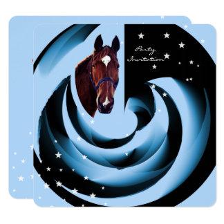 Chestnut Horse Portrait with White Star Card
