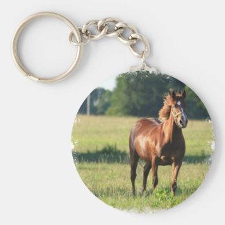 Chestnut Horse Standing Keychain