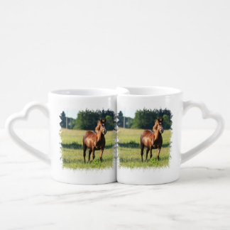 Chestnut Horse Standing Lovers Mug