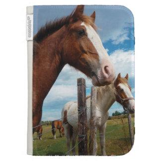 Chestnut Horse with White Blaze & Friends Kindle Case