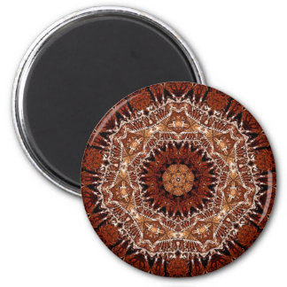Chestnut mandala 1 refrigerator magnets
