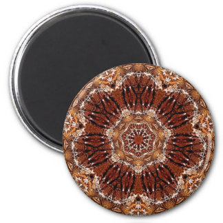 Chestnut Mandala 5 6 Cm Round Magnet