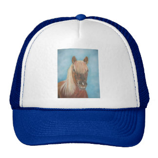 chestnut mare with blonde mane equine art horse cap