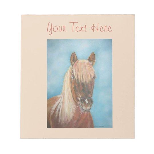 chestnut mare with blonde mane equine art horse