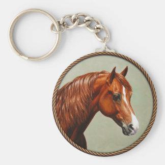 Chestnut Morgan Horse Keychain