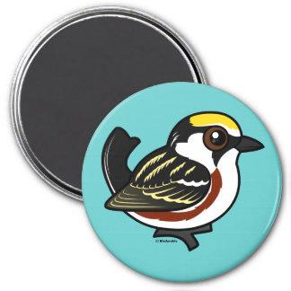 Chestnut-sided Warbler 7.5 Cm Round Magnet