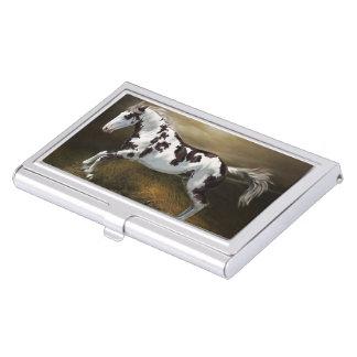Chestnut Splash Frame Tovero Paint Horse Business Card Holder