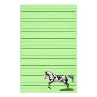 Chestnut Splash Frame Tovero Paint Horse Stationery