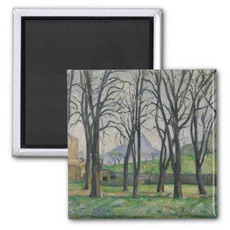 Chestnut Trees at Jas de Bouffan, c.1885-86 Square Magnet