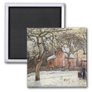 Chestnut Trees at Louveciennes, c.1871-2 Square Magnet