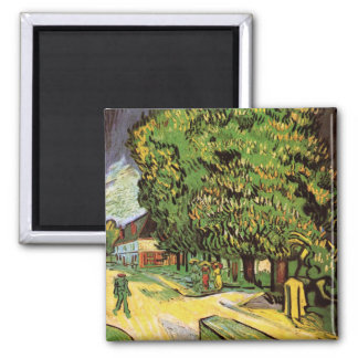 Chestnut Trees in Blossom Square Magnet