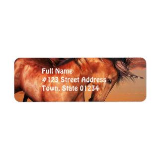 Chestnut Unicorn Mailing Labels