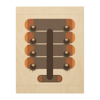 Chestnut Wood Wall Decor