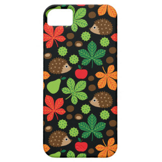 Chestnuts & Hedgehog Seamless Pattern iPhone 5 Case