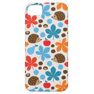 Chestnuts & Hedgehog Seamless Pattern iPhone 5 Cases