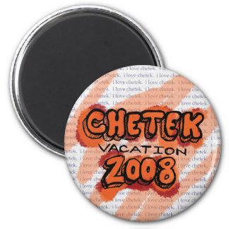 Chetek Vacation Pin 6 Cm Round Magnet