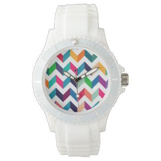 Cheveron Pattern Wild Colors Watch