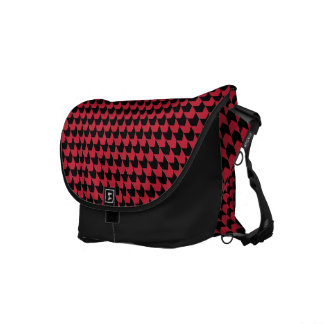 Chevon Checks Red and Black Courier Bags