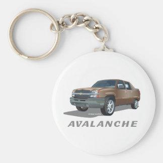Chevrolet Avalanche Gold Key Ring