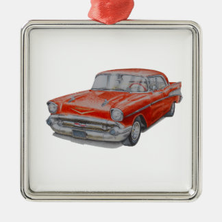 Chevrolet Belair Silver-Colored Square Decoration