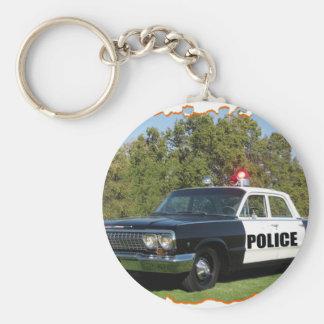 Chevrolet Black and White. Basic Round Button Key Ring