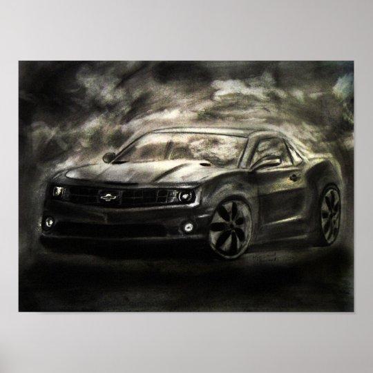 Chevrolet Camaro Drawing Print