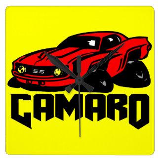 Chevrolet Camaro SS Square Wallclock