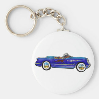 Chevrolet Classic Convertible Basic Round Button Key Ring