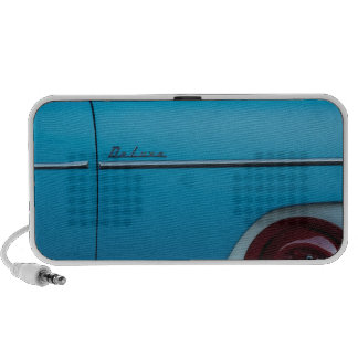Chevrolet Deluxe Blue Fender Laptop Speakers