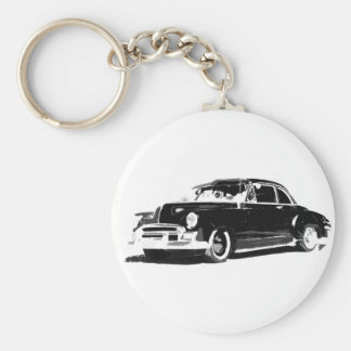 Chevrolet Sport Coupe Basic Round Button Key Ring