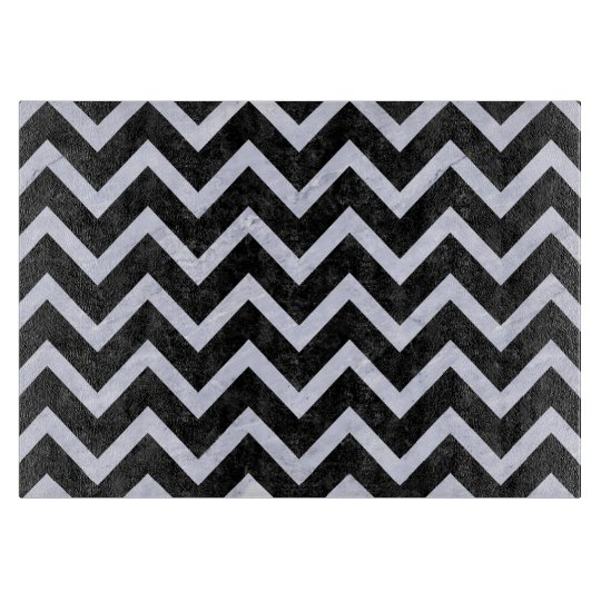 CHEVRON9 BLACK MARBLE & WHITE MARBLE CUTTING BOARD