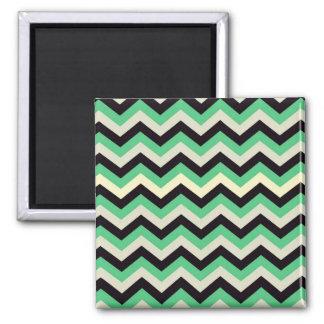 chevron 02 ,zigzag, aqua,black magnets