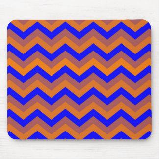 chevron 02 zigzag blue orange mousepad