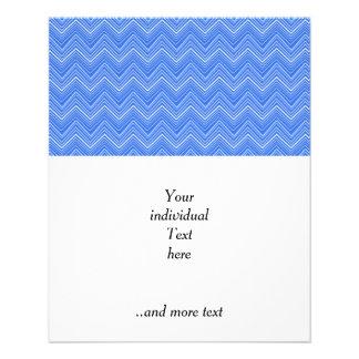 chevron 03 zigzag,blue full color flyer