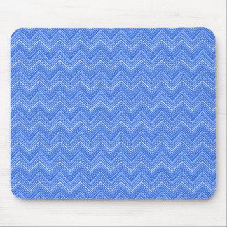 Chevron 03 zigzag blue mouse pads