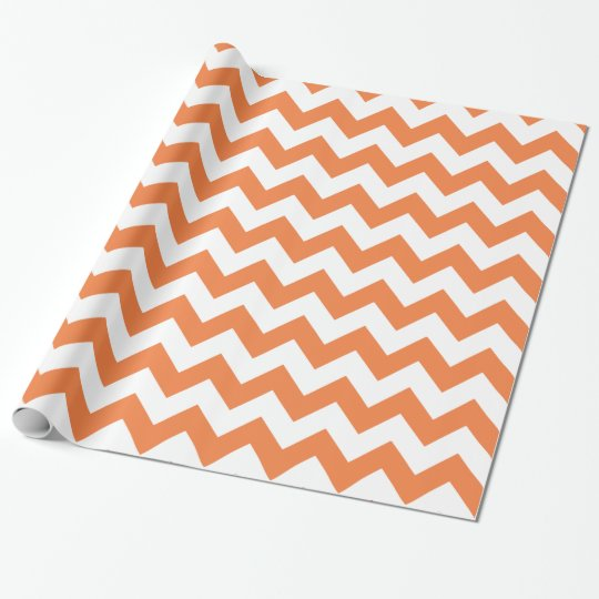 Chevron 1 Celosia Orange Wrapping Paper