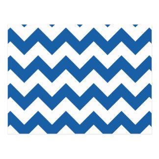 Chevron 1 Dazzling Blue Postcard